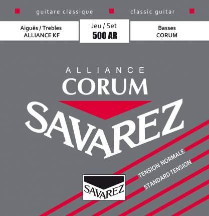 Струны для классической гитары Savarez 500AR 24-42 Alliance Corum Normal Tension