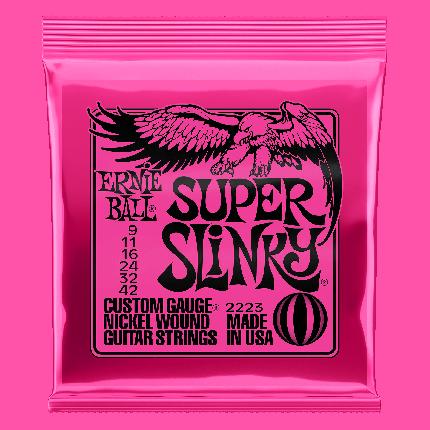 Струны для электрогитары Ernie Ball Super Slinky 2223 9-42