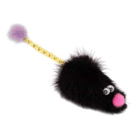 Игрушка для кошек Gosi Мышь норка М с хвостом трубочка с норкой