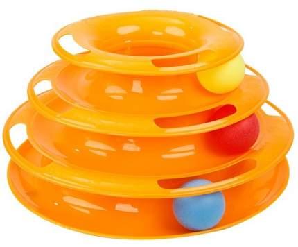 Игрушка для кошек HOMECAT Трэк трехэтажный с мячиками, в ассортименте, 24,5х12 см