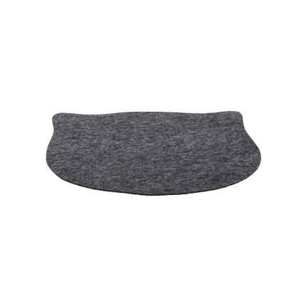 Коврик под миску TRIXIE Cats Bowl Mat Cat's Head, фетровый, серый, 45 х 37 cм