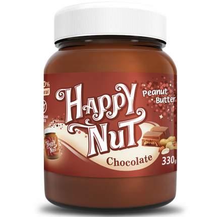 Арахисовая паста Happy nut с темным шоколадом 330 г
