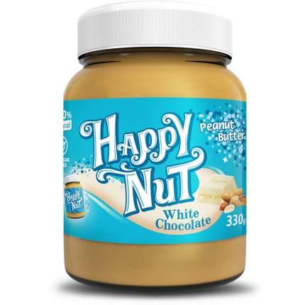 Арахисовая паста HAPPY NUT с белым шоколадом 330 г
