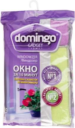 Салфетка для уборки Domingo Виндозер для мытья окон 20x25, 30x35 см 2 шт