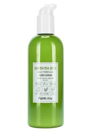 Парфюмированный лосьон для тела с экстрактом зеленого чая Farmstay 330 мл