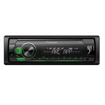 Автомагнитола PIONEER MVH-S120UBG, 4x50вт,USB/MP3/Android, зеленая подсветка