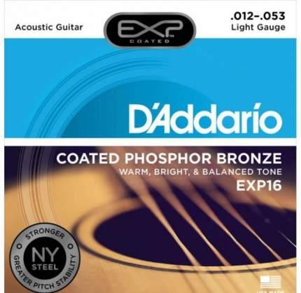 Струны для акустической гитары D'ADDARIO EXP16 -CT15
