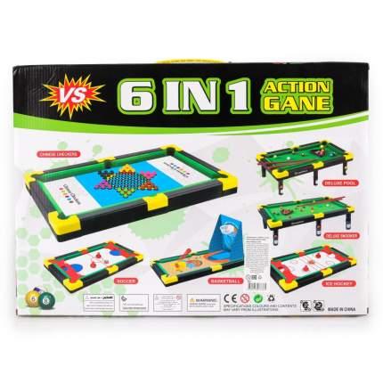Набор игр 6 в 1 Di Hong пул, снукер, баскетбол, аэрохоккей, аэрофутбол, китайские шашки