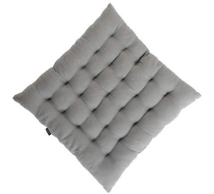 Стеганая подушка на стул из умягченного льна серого цвета Essential 40х40