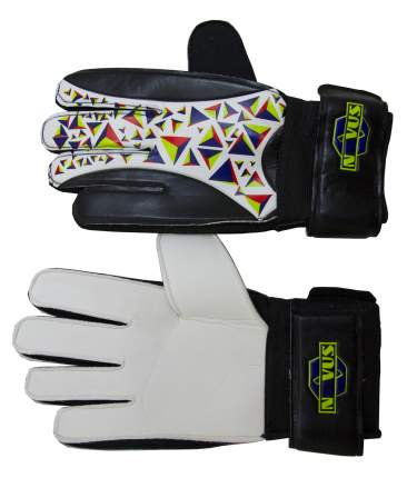 Перчатки вратарские фб NOVUS NFG-01,черн-бел., размер M