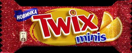 Шоколадный батончик Twix Minis Апельсин