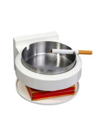 Настенная пепельница с полочкой для пачки сигарет