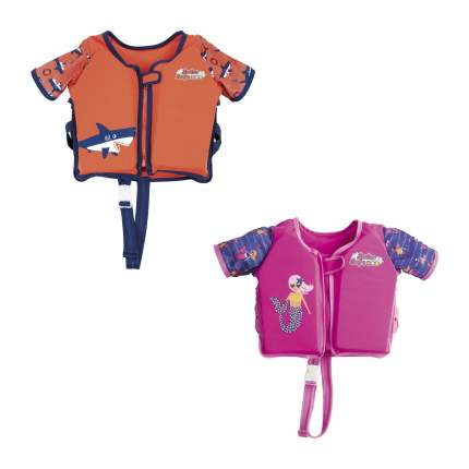 Жилет для плавания Bestway 32147 с рукавами оранжевый; розовый 8827