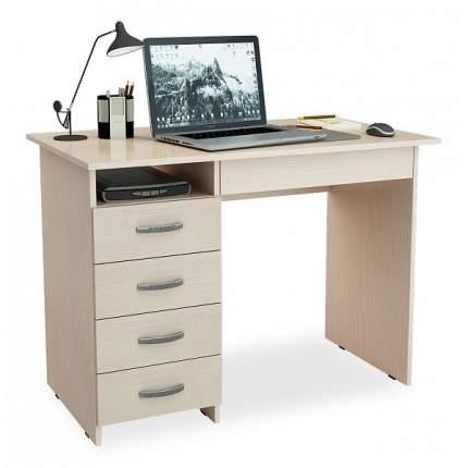 Письменный стол МФ Мастер Милан-1 (0120), дуб молочный