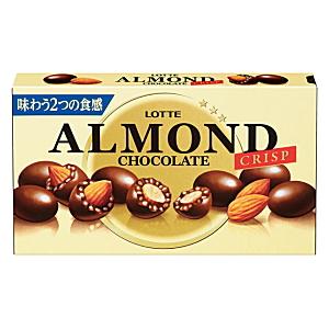 ALMOND LOTTE Mиндаль в шоколаде с криспи, 89г. Japan