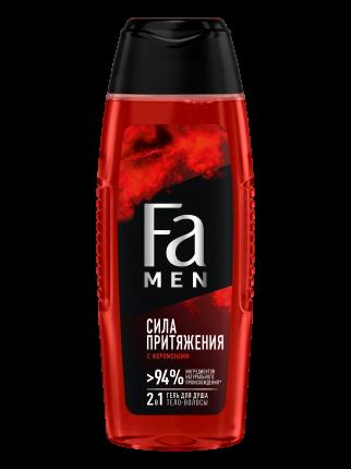 Гель для душа мужской Fa Сила притяжения 2-в-1, с феромонами, 250 мл