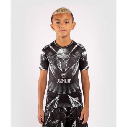 Рашгард детский Venum Gladiator 4.0 Black/White S/S