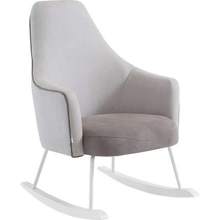 Кресло-качалка Micuna (Микуна) Wing/Moom white текстиль light grey/dark grey