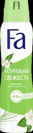 Аэрозоль дезодорант-антиперспирант Fa Натуральная свежесть 48 ч, 150 мл