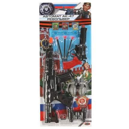 Набор игрушечного оружия Играем Вместе Автомат АК-47 Револьвер