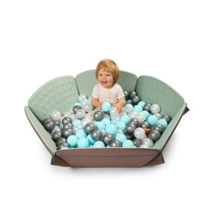 Шарики Happy Baby (Хэппи Бэйби) BURBULLE для сухого бассейна silver, mint, pearl 51006