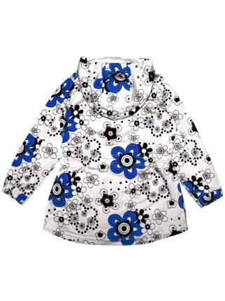 Парка летняя Bon&Bon /588/30/122/белый, синий, цветы