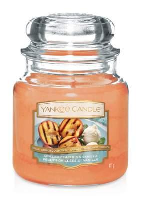 Свеча ароматическая Yankee Candle Персик на гриле и ваниль 65-90 ч