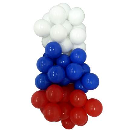 Комплект шариков Триколор России серия флаги 50 шт. для сухого бассейна