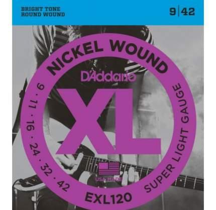 Струны для электрогитары D'ADDARIO EXL120