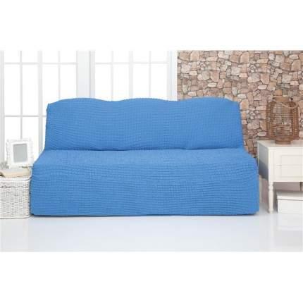 """Чехол на трехместный диван без подлокотников и оборки Venera """"Sofa"""", цвет: голубой"""