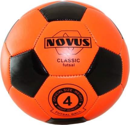 Футзальный мяч Novus Classic Futsal №4 оранжевый/черный