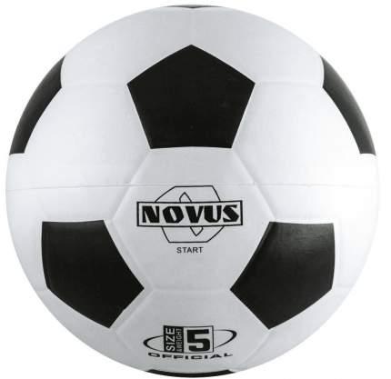 Футбольный мяч Novus Start №5 белый/черный