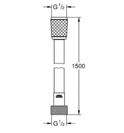 Душевой шланг Grohe Relexaflex 28151001 1,5м