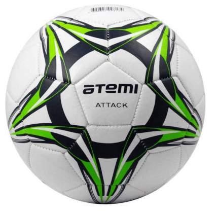 Футбольный мяч Atemi Attack Pvc №5 белый/зеленый/черный