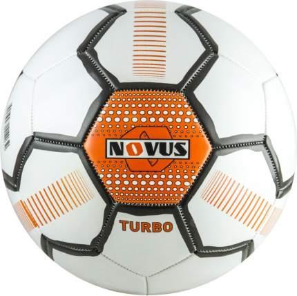 Футбольный мяч Novus Turbo №3 белый/оранжевый/черный
