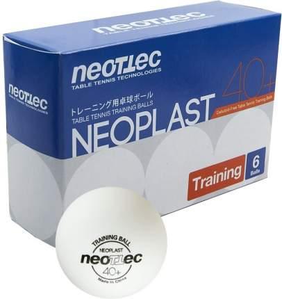 Мячи для настольного тенниса NEOTTEC Neoplast, 6 шт., бел.