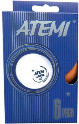 Мячи для настольного тенниса Atemi 1* оранж., 6 шт.