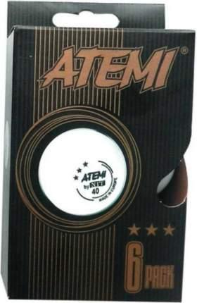 Мячи для настольного тенниса Atemi ATB36W 3*, белый, 6 шт.
