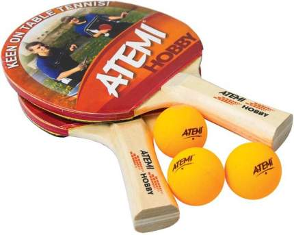 Набор для настольного тенниса Atemi Hobby (2 ракетки + 3 мяча*)