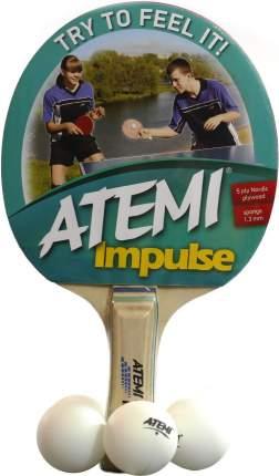 Набор для настольного тенниса Atemi Impulse (1ракетка+4 мяча*)