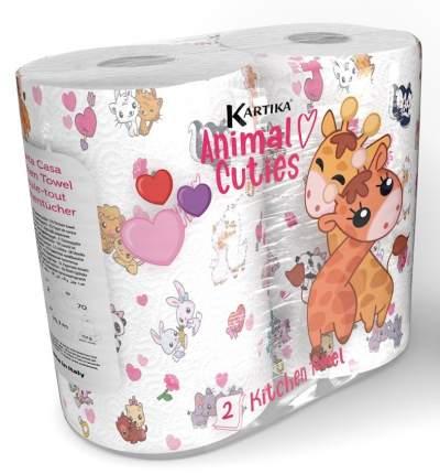 "Полотенца кухонные ""Зверушки"", Kartika Collection, 2-х слойные, 2 рул/70 л, World Cart"