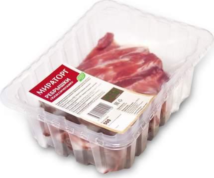 Ребрышки свиные мираторг классические охл кг в/у вес ск короча россия