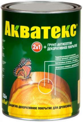 Акватекс пропитка для древесины, махагон 0,8л