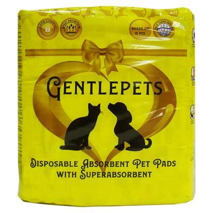 Подстилки для животных GENTLEPETS впитывающие,с суперабсорбентом,  60х90см 15шт