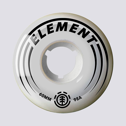 Колеса для скейтборда Element Filmer 60mm 10 60 mm, белый, One Size
