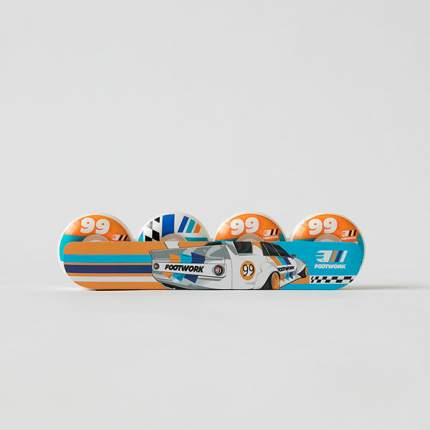 Комплект колес Footwork CRESTA (54 мм 101A Форма Round ), мультиколор, 54