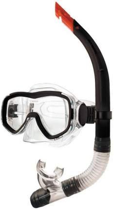 Набор для плавания ( маска+трубка) Atemi (чёрный), 24102