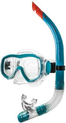 Набор для плавания ( маска+трубка) Atemi (голубой), 24102