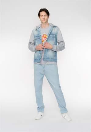 Джинсовая куртка мужская Modis M201D00261 голубая 50 RU