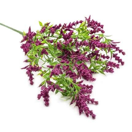 HY125-81015 Ветка декоративная с цветочками, 69см (E Винный)